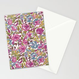 Painted Abstract Florals Stationery Cards
