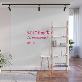 Arithmetic Teacher Word Definition Dictionary Mathematician Wall Mural