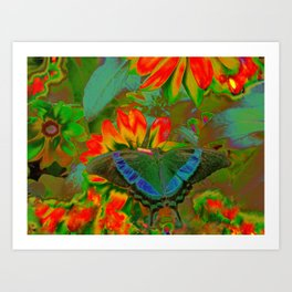 Extreme Emerald Swallowtail Butterfly Art Print