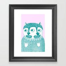 Going Twice Framed Art Print