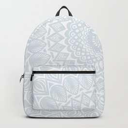 Minimal Minimalistic Light Cool Gray Mandala Backpack