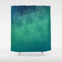 blue oriental shadow Shower Curtain