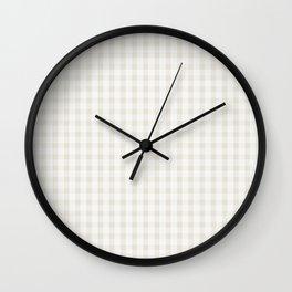 White Gingham Wall Clock