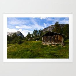 The Hut Art Print