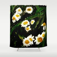 daisies Shower Curtains featuring Daisies by James Peart