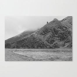 Lake Black and white Canvas Print