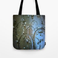 jewish Tote Bags featuring Voir le beau verre  by Brown Eyed Lady
