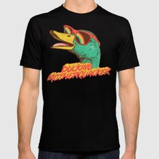 Ducking Motherquacker Black Mens Fitted Tee LARGE