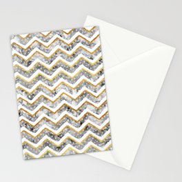 NEW Gold Chevron Stationery Cards