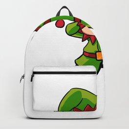 Christmas elf dabbing Imp children gift Backpack
