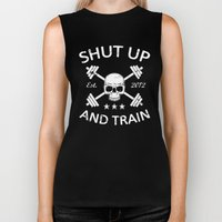 Shut Up and Train Biker Tank