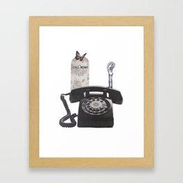 Call Now! Framed Art Print