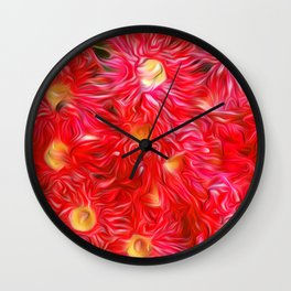 Gum blossoms III Wall Clock