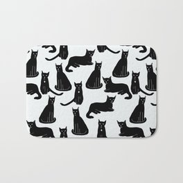 Brothers: Black cats Bath Mat
