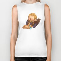 fili Biker Tanks featuring Fili and Kitten by Hattie Hedgehog