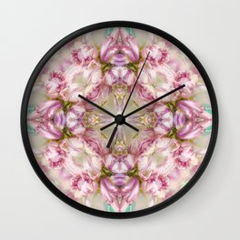bouquet tulips in blue vase  (pattern/pillow) Wall Clock