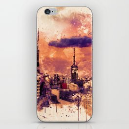 Sao Paulo - WaterColor 003A iPhone Skin