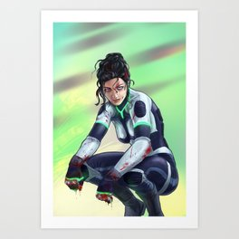 Iwah the fighter Art Print