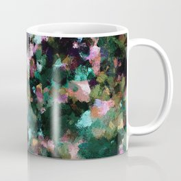 Contemporary Abstract Wall Art in Green / Teal Color Coffee Mug