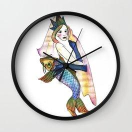 fishgirl Wall Clock