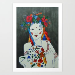 Skullcandy Ethnic Lady II Art Print
