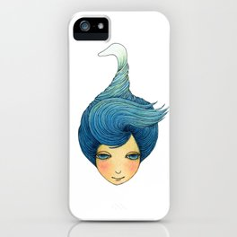 the girl with swan hair iPhone Case