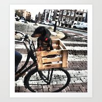 the dog peddler Art Print