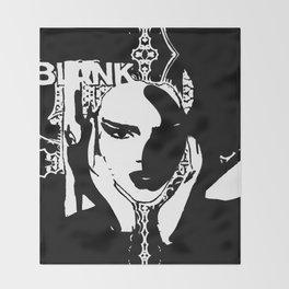 KENDALL JENNER - black and white Throw Blanket