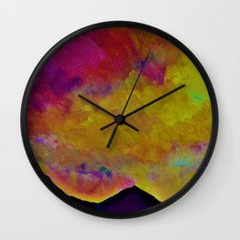 SPRING SKY OVER MOURNE MOUNTAINS Wall Clock