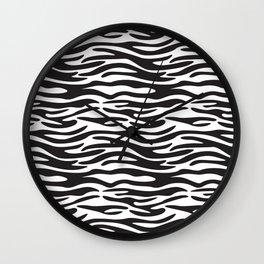 Black and White Zebra Pattern Wall Clock