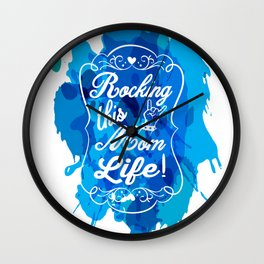 Mother's Love Rockin' this Mom Life Wall Clock