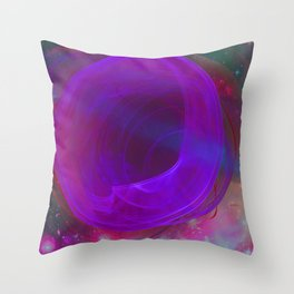 Welcome To The Wormhole Throw Pillow