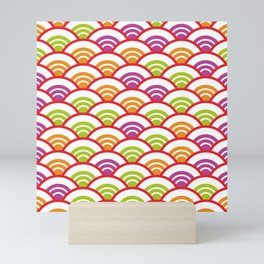 Seigaiha or seigainami literally means wave of the sea. Abstract japanese scales Mini Art Print