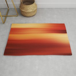 Abstract background blur motion red yellow style Rug
