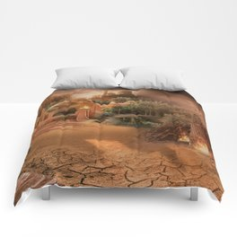 Desert paradise on the edge of Hell - Sandstorm Comforters