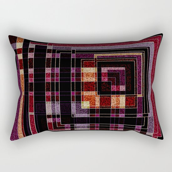 "Abstract pattern ."" Squares "".  Rectangular Pillow"