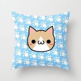 Neko-san Throw Pillow