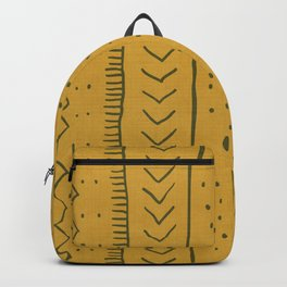 Moroccan Stripe in Mustard Yellow Backpack