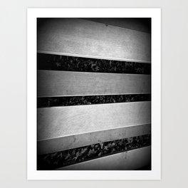 Steel Bars Art Print