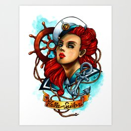 Hello Sailor Art Print