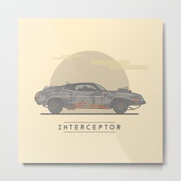 Mad Max: Fury Road - Interceptor Metal Print