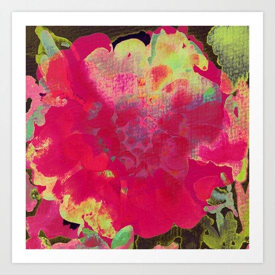 big abstract flower Art Print