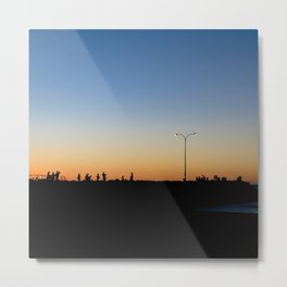 Sunsetting Silhouette Metal Print