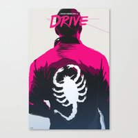 drive Canvas Prints featuring DRIVE by justjeff