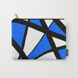China Blue Geometric Triangle Abstract Carry-All Pouch