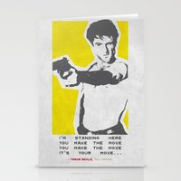 taxi driver Stationery Cards featuring Taxi Driver by Geminianum