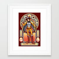 digimon Framed Art Prints featuring Digimon Cards: Tai by Dralamy