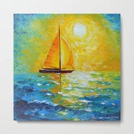 Sailboat in the sunlight Metal Print