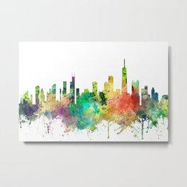 Chicago, Illinois Skyline SP Metal Print