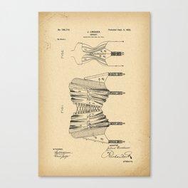 1902 Patent Corset Canvas Print